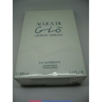 Acqua Di Gio by Giorgio Armani 3.4oz 100ml Spray EDT Eau de Toilette Women new in Selaed box Only $99.99