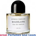 Baudelaire BY Byredo Generic Oil Perfume 50 Grams 50ML (001313)