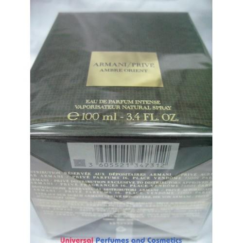 Parfum In Sealed Ambre New Armani Orient De Eau Prive Factry 100ml 35AjR4Lq