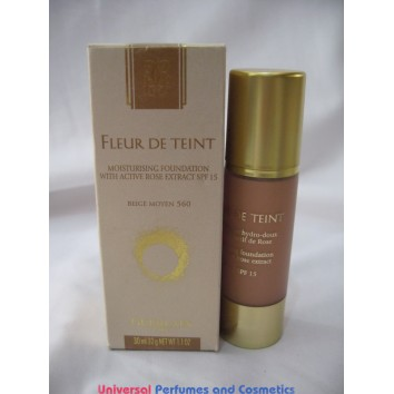 Guerlain Fleur De Teint Moisturising Foundation with Active Rose Extract SPF 15 560 Beige Moyen FOR ONLY  $19.99 @ UPAC