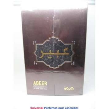 ABEER by Rasasi 50ML E.D.P  SPRAY Oriental spray(Bergamot,sandalwood,cedar wood, patchouli) NEW IN SEALED BOX