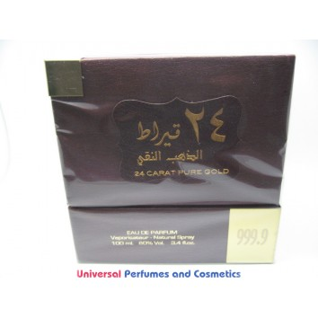 24 CARAT PURE GOLD By Lattafa Perfumes (Woody, Sweet Oud, Bakhoor) Oriental Perfume100 ML  SEALED BOX