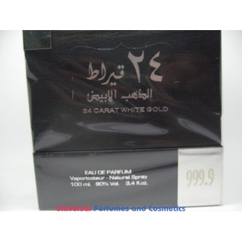 24 CARAT WHITE GOLD  الذهب الابيض By Lattafa Perfumes (Woody, Sweet Oud, Bakhoor) Oriental Perfume100 ML SEALED BOX ONLY $32.99