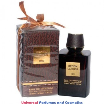 Brown Leather by Fragrance World EDP For Men - 100 ml new sealed box