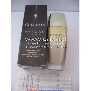 Guerlain Parure Aqua Radiant Feel Good Foundation #31 Ambre Pale SPF20 Moisturising Mineral Enriched 30ml