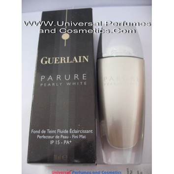 Guerlain Parure Pearly White Brightening Fluid Foundation #01 Skin Refiner- Matte Finish SPF 15 - PA+ 30ml -1FL OZ  Beige Pale