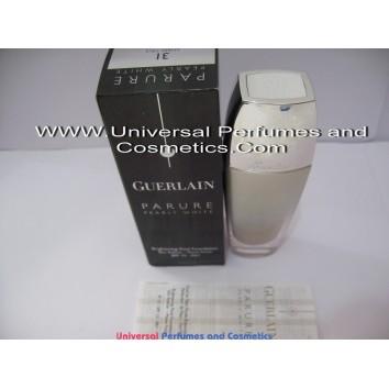 Guerlain Parure Pearly White Brightening Fluid Foundation #31 Skin Refiner- Matte Finish SPF 15 - PA+ 30ml -1FL OZ  Ambre Pale