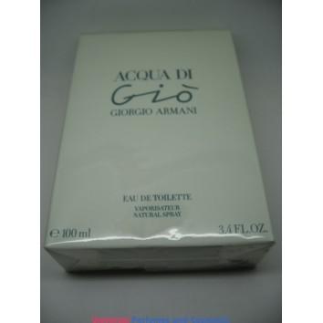 Acqua Di Gio by Giorgio Armani 3.4oz 100ml Spray EDT Eau de Toilette Women new in Selaed box Only $99.99