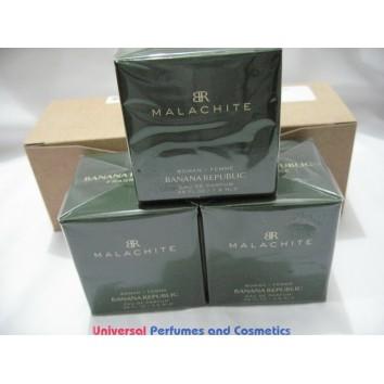 MALACHITE BY BANANA REPUBLIC .25 OZ 7.5ML MINI BOX LOT OF 3 TOTAL OD .75 OZ / 22.5ML E.D.T NEW IN SEALED BOX  $29.99