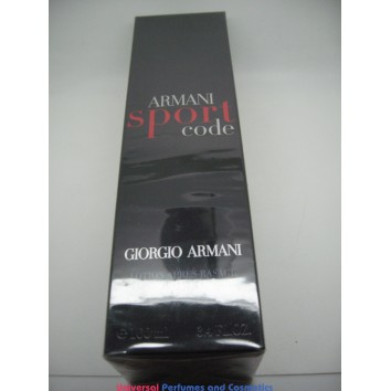 Armani Code Sport After Shave Lotion 100mL / 3.4 FL.OZ BRAND NEW IN SEALED BOX  $27.99