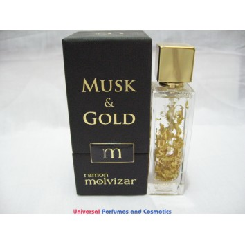 MUSK & GOLD BY RAMON MOLVIZAR 25ML BRAND NEW IN FACTORY BOX