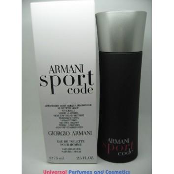 ARMANI SPORT CODE TESTER 2.5 OZ EDT SPRAY FOR MEN BY GIORGIO ARMANI $39.99