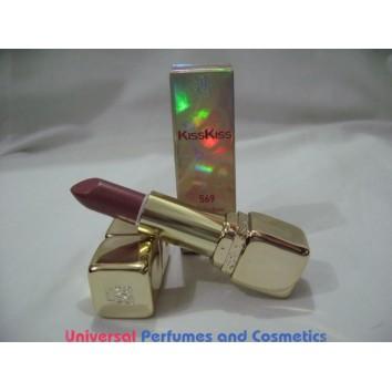 GUERLAIN KissKiss Precious Colours Silky & Delicious # 569 ROSE ENTETANT 3.5 G / .12 OZ $19.99