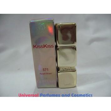 GUERLAIN KissKiss Precious Colours Silky & Delicious # 571 PURPLE STRASS 3.5 G / .12 OZ $19.99