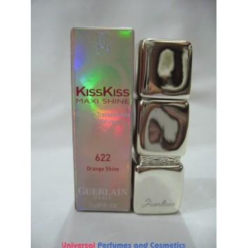 GUERLAIN KissKiss Precious Colours Silky & Delicious # 622 ORANGE SHINE 3.5 G / .12 OZ $29.99